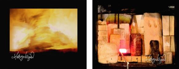 skyscape painting + glory hole digital art