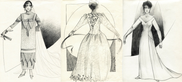 graphite fashion design drawings