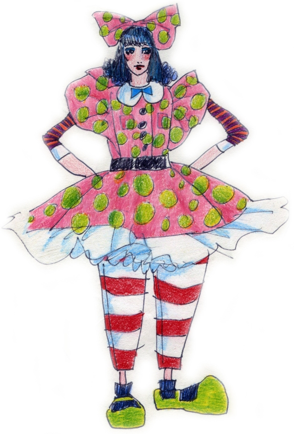 mixed media costume parody