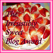 The Irresistibly Sweet Blog Award logo image