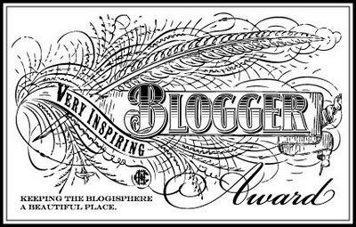 Very Inspiring Blogger Award logo image