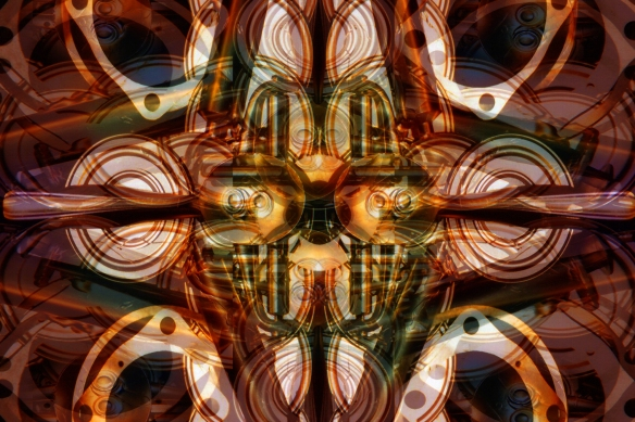 digital image from a mixed media assemblage