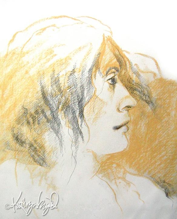 graphite & pastel drawing