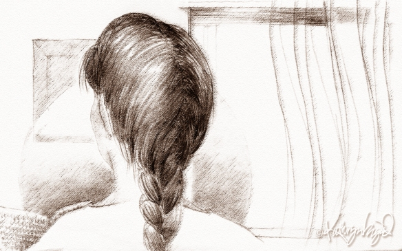 graphite/digital illustration