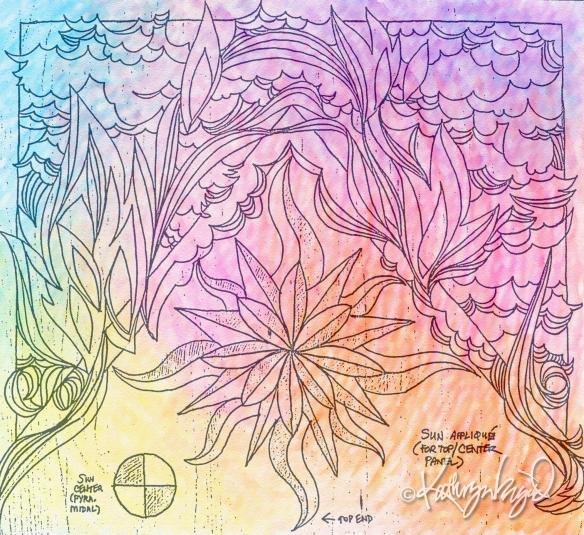 digital artwork from the original Winnetka panel + colored backdrop
