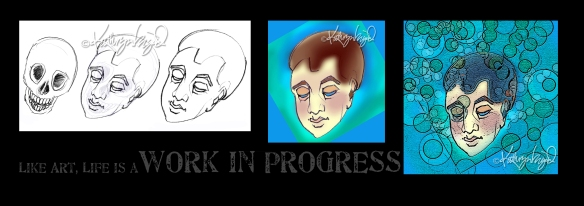 mixed media process montage