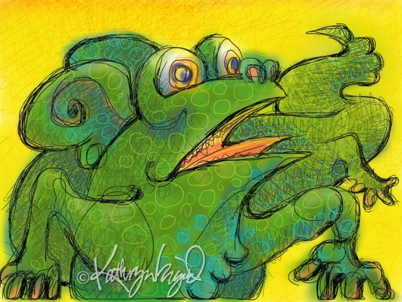 Digital illustration: Reptilian Wriggle