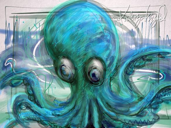 Digital illustration: Cool Kraken