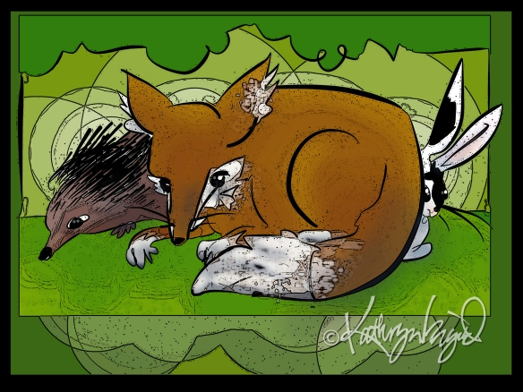 Digital illustration: Little Woodland Creatures