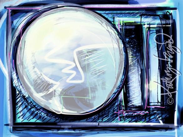 Digital illustration: Rare Moon