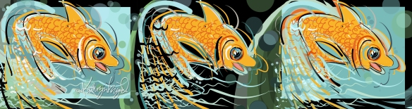 Digital Illustration: Fish are Jumpin'