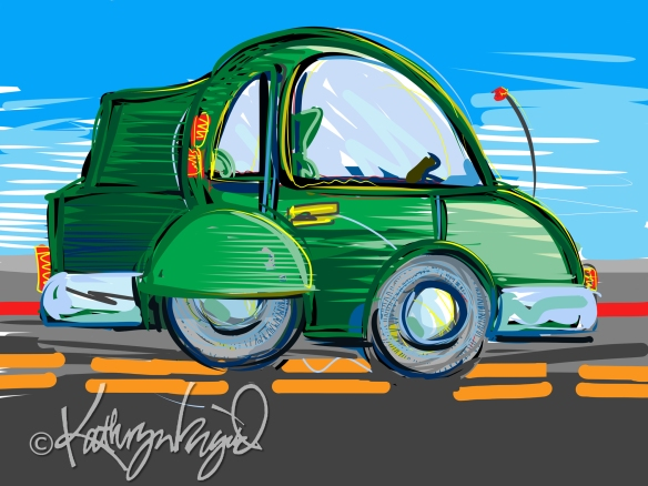 Digital illustration: Tripping along the Road