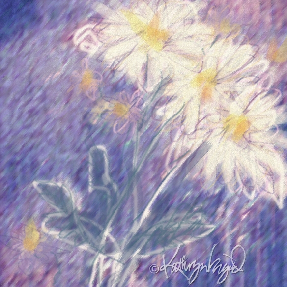 Digital illustration: Wild Daisies 1