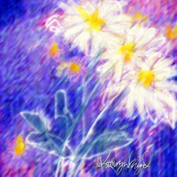 Digital illustration: Wild Daisies 2