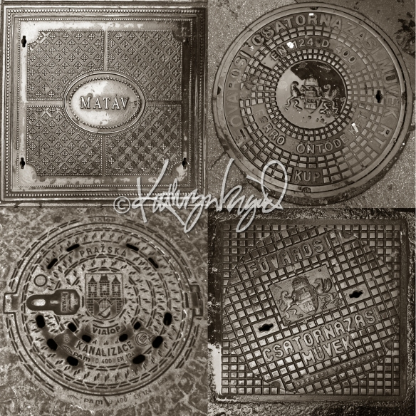 Photo Montage: Manhole Covers 1