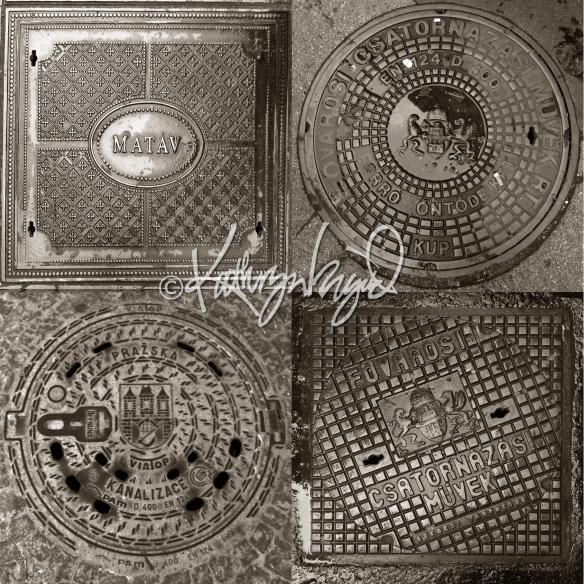 Photo Montage: Manhole Covers 1