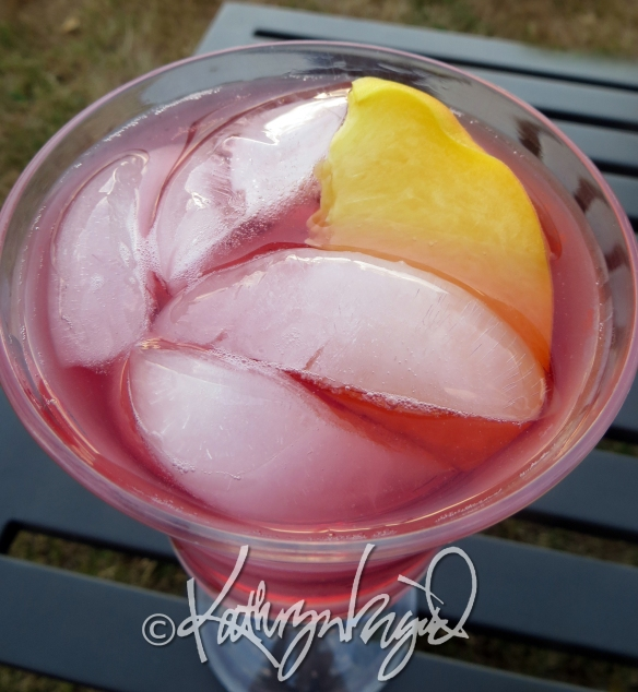 Photo: Iced Peaches in Rosé