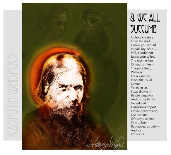 Digital illustration + text: And We All Succumb