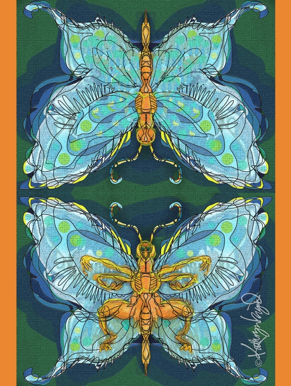 Digital illustration: Friendly Little Insect