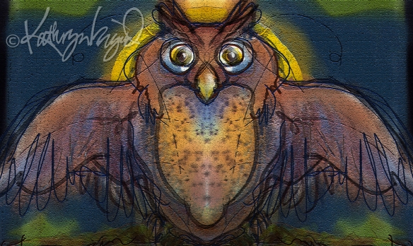 Digital illustration: The Owl King