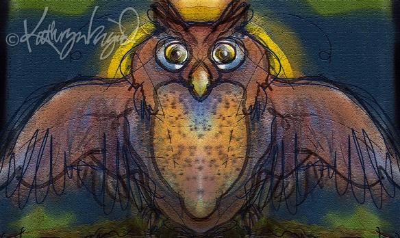 Digital illustration: The Owl King