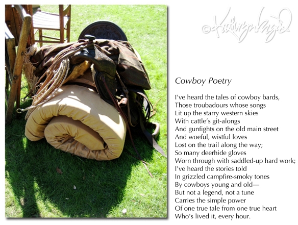 Photo + text: Cowboy Poetry