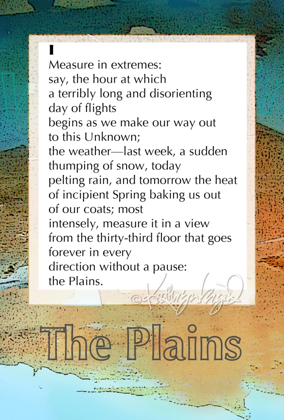 Digital illustration + text: The Plains I