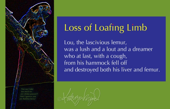 Digital illustration + text: Loss of Loafing Limb