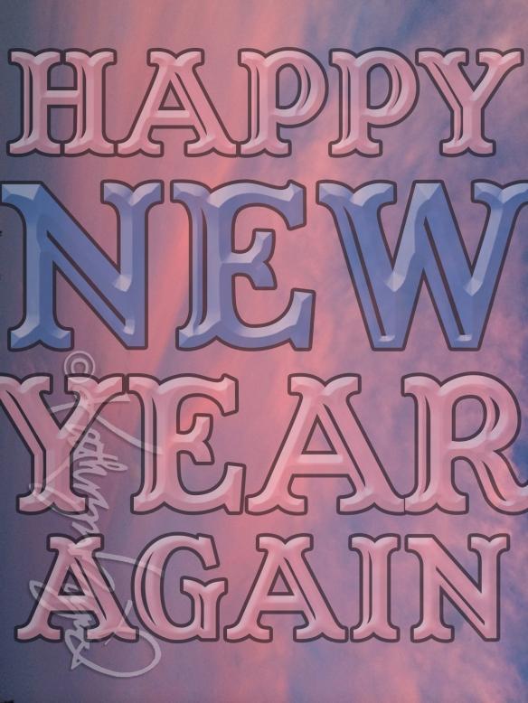Digital illustration: Happy New Year Again
