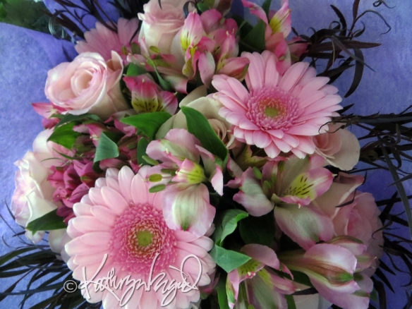 Photo: Pink and Green Bouquet