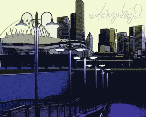 Digital illustration: Along the Boulevard