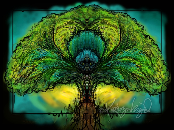 Digital illustration: Yggdrasil, the Tree of Life