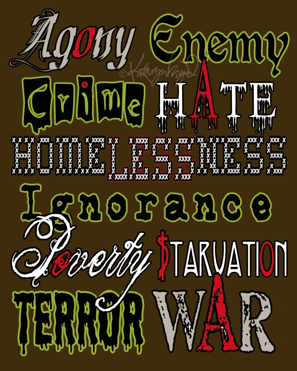 Digital text-illustration: 10 Terrible Words