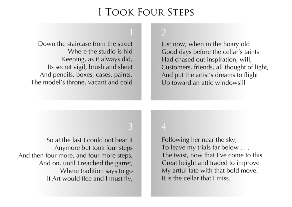 Text: I Took Four Steps