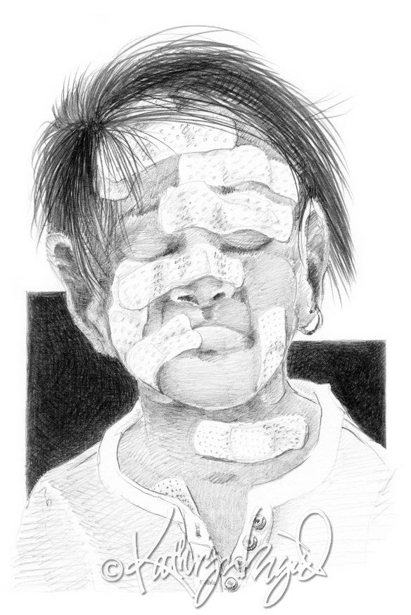 Graphite drawing: Self-Inflicted