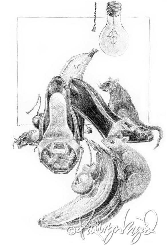 Graphite Drawing: Treasured Things