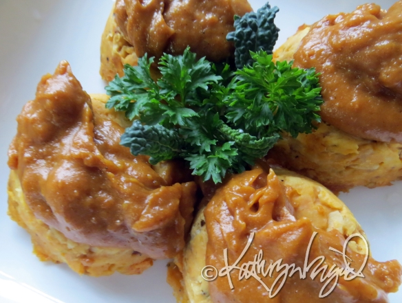 Photo: Tuna Cakes with Peanut Sauce