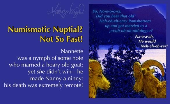 Digital illo + text: Numismatic Nuptial