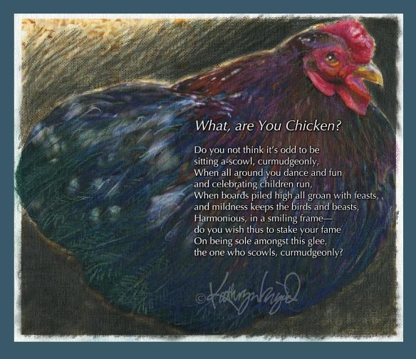 Digital illo from a photo: Nine, Ten, a Big Fat Hen