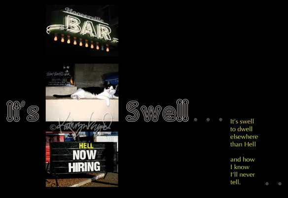 Photomontage + text: It's Swell