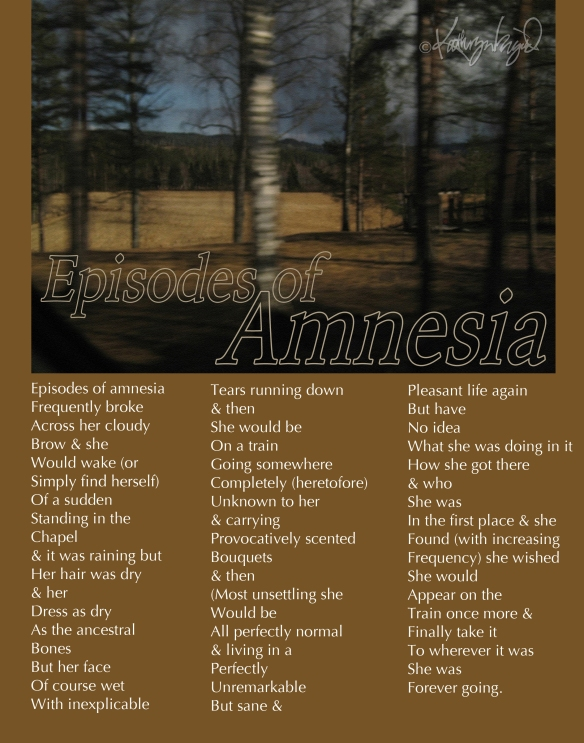 Photo + text: Episodes of Amnesia
