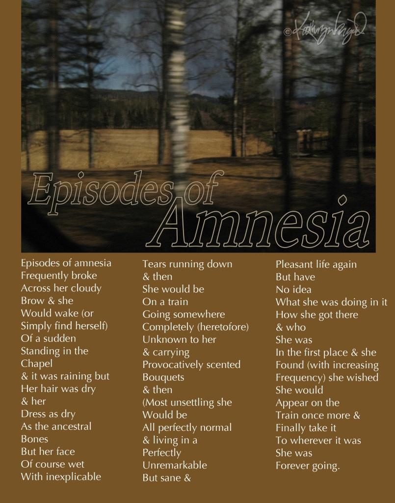 Photo + text: Episodes of Amnesia