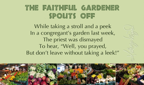 Photo montage + text: The Faithful Gardener