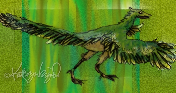 Digital illo: The Archaeopteryx's Mistake