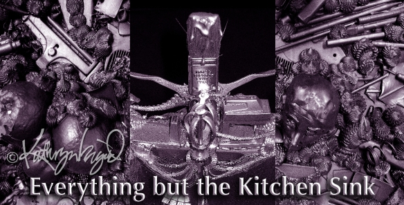 Mixed media artwork: Everything but the Kitchen Sink