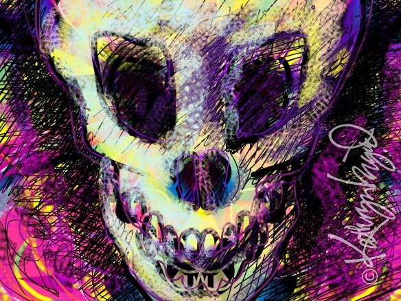 Digital illo: Mine was a Death's Head