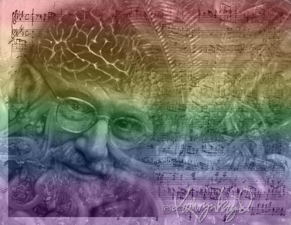 Digital collage illo: Oliver's Rainbow