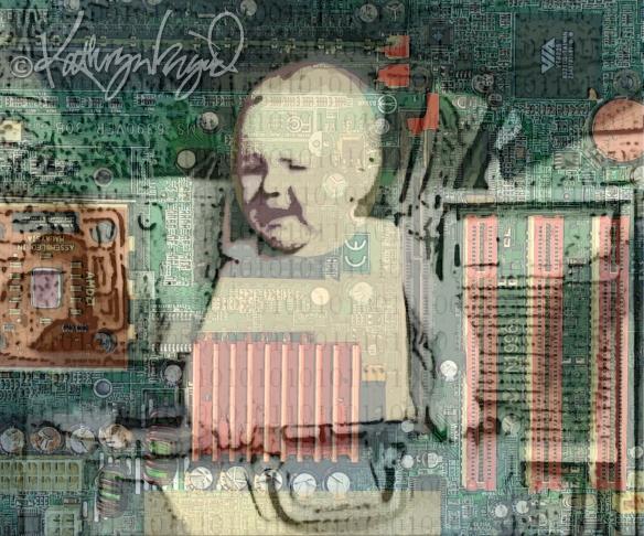 Digital illo: Binary Baby