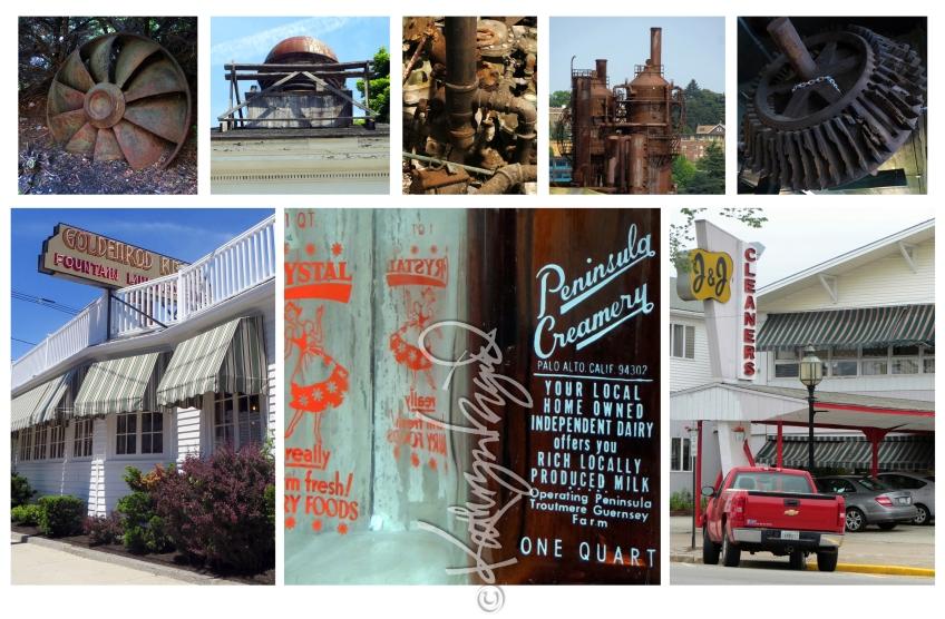 Photomontage: Milk Bottles & Machinery