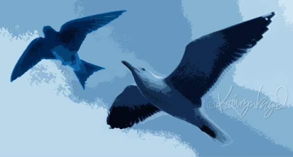 Digital illo: Birds' Words